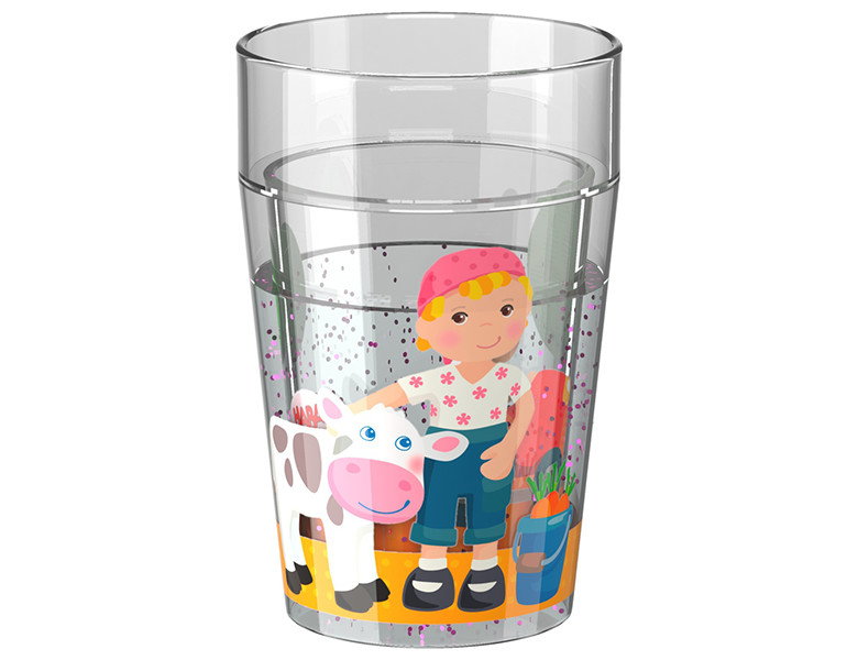 HABA Little Friends Glitzerbecher Bauernhof | Essen & Trinken