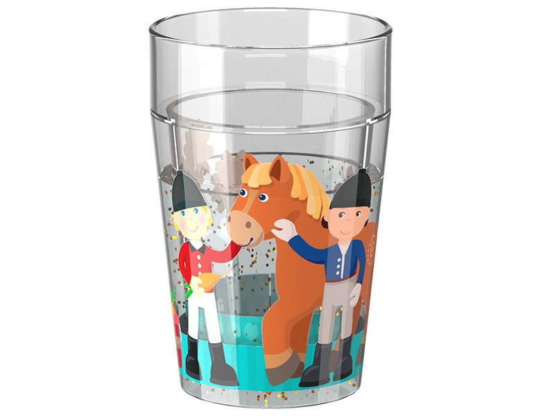 HABA Little Friends Glitzerbecher Reiterhof 7,5cm | Essen & Trinken