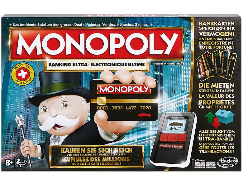 Hasbro Gaming Monopoly Banking Ultra Swiss Edition