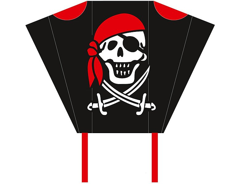 HQ Invento Pocket Sleds Kinderdrachen Jolly Roger