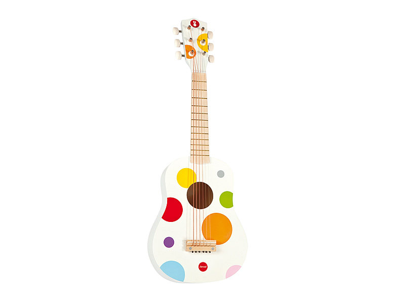 janod kreativ konfetti gitarre weiss saiteninstrumente. Black Bedroom Furniture Sets. Home Design Ideas