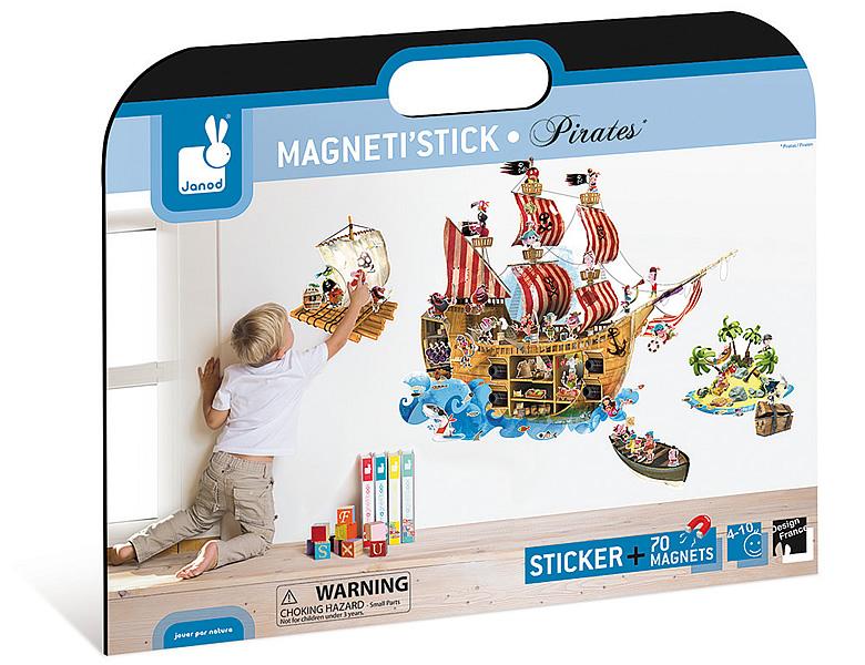 Janod kreativ piraten wandsticker magnetisch einrichtung for Piraten accessoires kinderzimmer