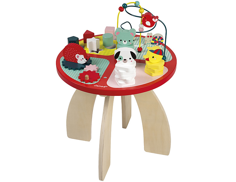 janod kleinkind spieltisch baby wald motorikschleifen. Black Bedroom Furniture Sets. Home Design Ideas
