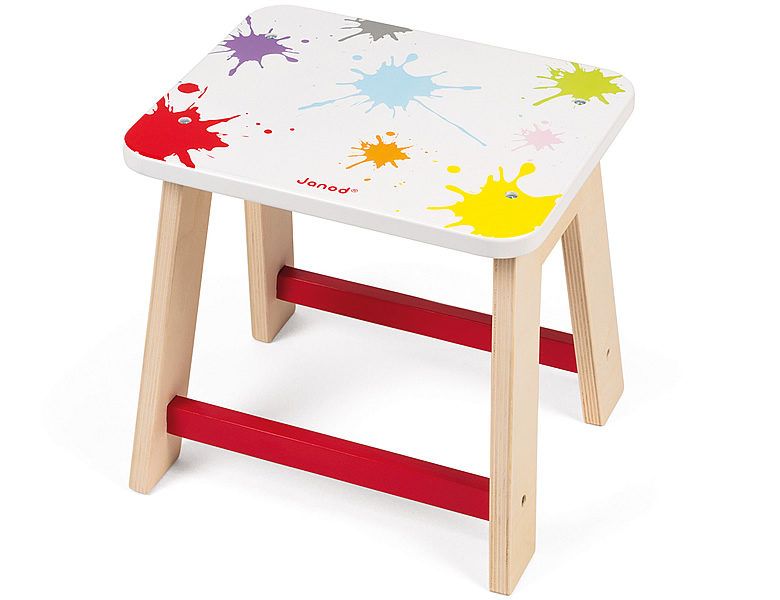 Janod Kreativ Splash Hocker Kinderzimmer