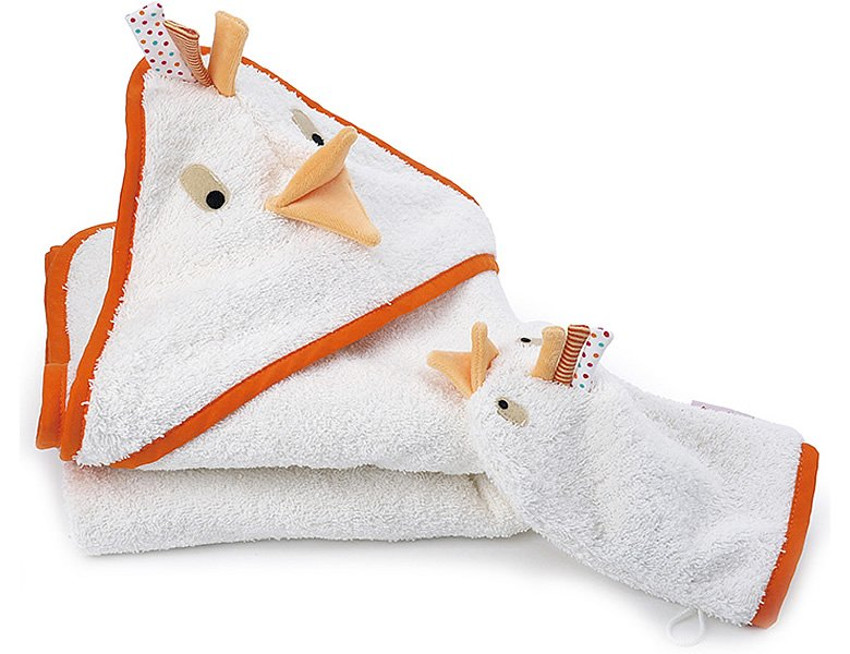 k the kruse baby doddy badetuch mit waschlappen badespass. Black Bedroom Furniture Sets. Home Design Ideas