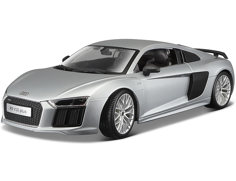 maisto 1 18 audi r8 v10 plus silber die cast modelle. Black Bedroom Furniture Sets. Home Design Ideas