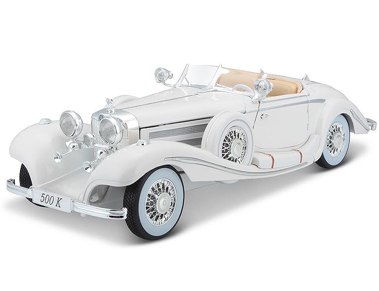 Maisto Modellauto 1:18 Mercedes 500 K Roadster Maharadscha 1936 weiß
