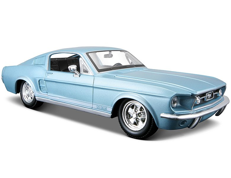 maisto 1 24 ford mustang gt 1967 blau die cast modelle. Black Bedroom Furniture Sets. Home Design Ideas