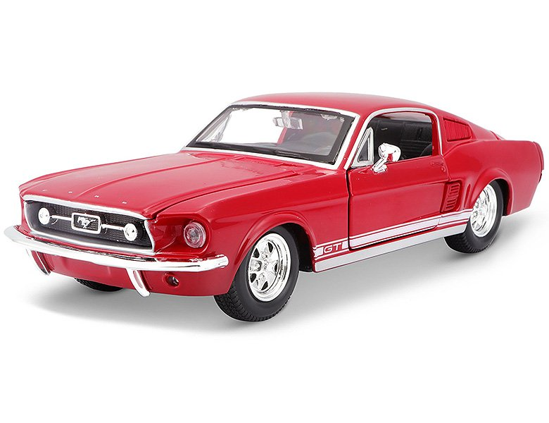 maisto 1 24 ford mustang gt 1967 grau die cast modelle. Black Bedroom Furniture Sets. Home Design Ideas