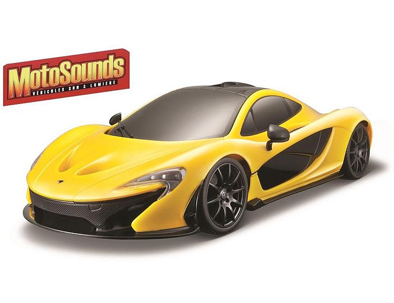 maisto moto sounds mclaren p1 gelb 34cm | spielzeugauto