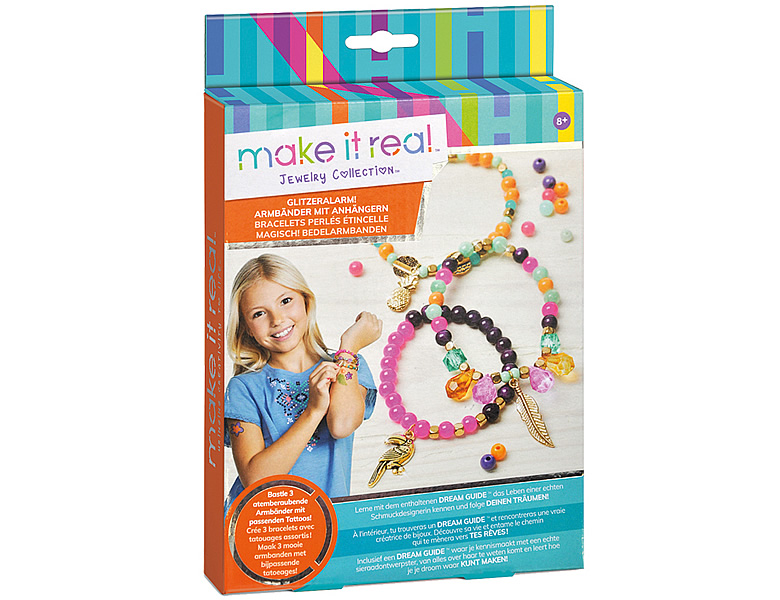 Make It Real Glitzeralarm Armbänder Tropical | Schmuck Bastelset