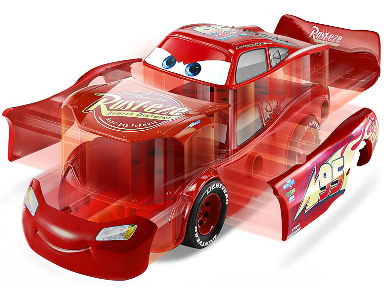 Mattel Disney Cars 3 In 1 Rennfahrzeug Lightning Mcqueen Spielzeugauto