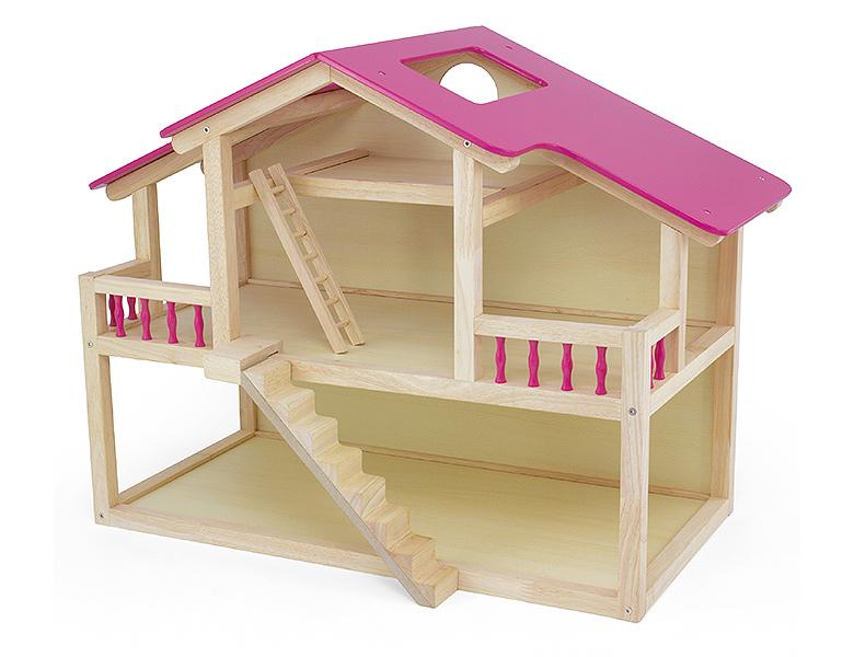 puppenhaus aus holz mit zubehor. Black Bedroom Furniture Sets. Home Design Ideas