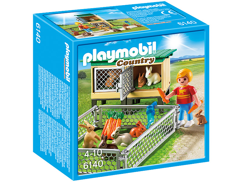 playmobil country hasenstall mit freigehege 6140. Black Bedroom Furniture Sets. Home Design Ideas