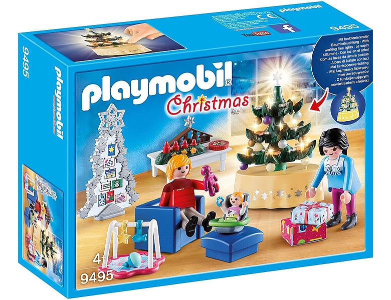 playmobil christmas weihnachtliches wohnzimmer 9495