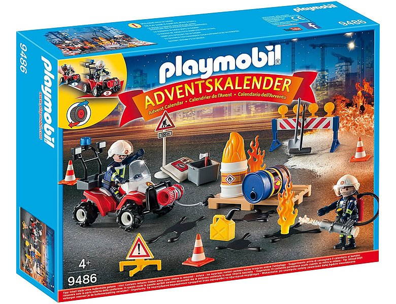 playmobil city action adventskalender feuerwehreinsatz auf der baustelle 9486. Black Bedroom Furniture Sets. Home Design Ideas