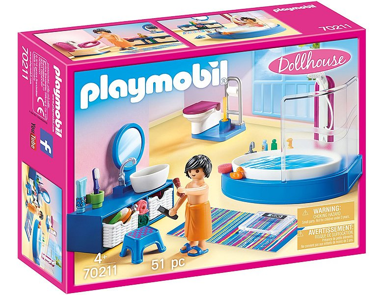 PLAYMOBIL Dollhouse Badezimmer (70211)