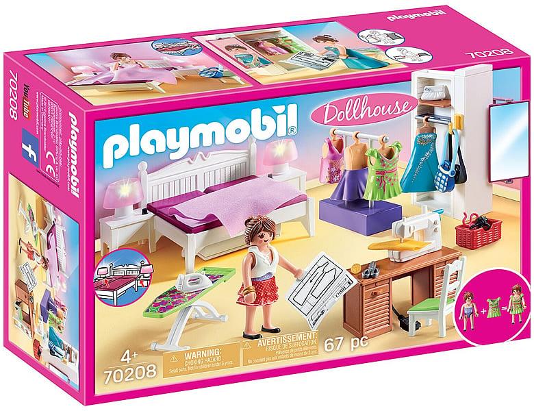 PLAYMOBIL Dollhouse Schlafzimmer mit Nähecke 70208