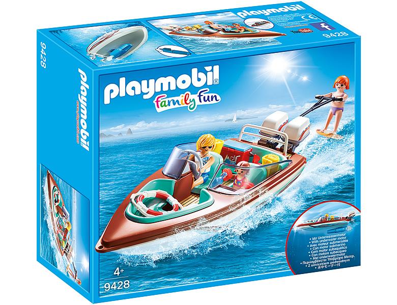 playmobil familyfun motorboot mit unterwassermotor 9428. Black Bedroom Furniture Sets. Home Design Ideas