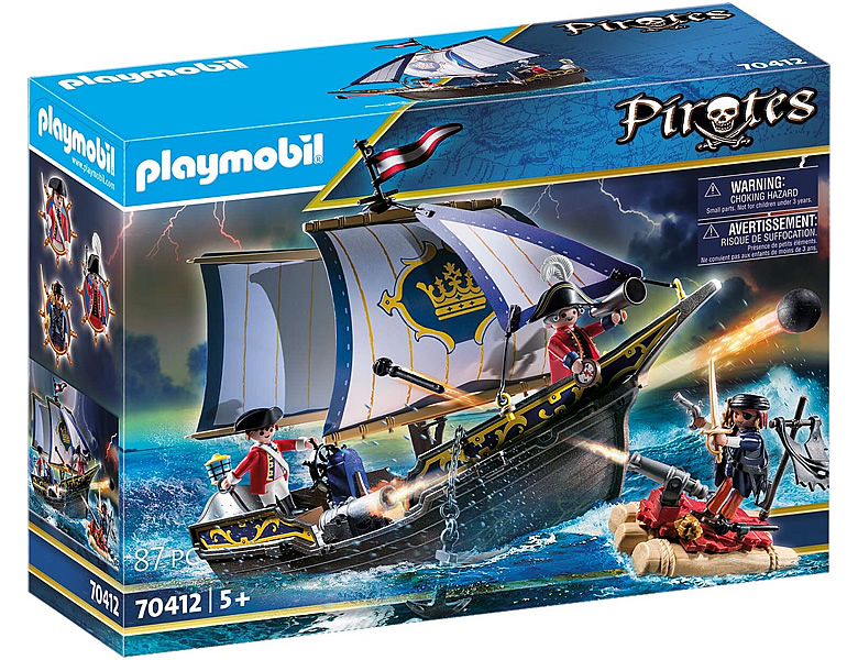 PLAYMOBIL Pirates Rotrocksegler 70412 | Piraten