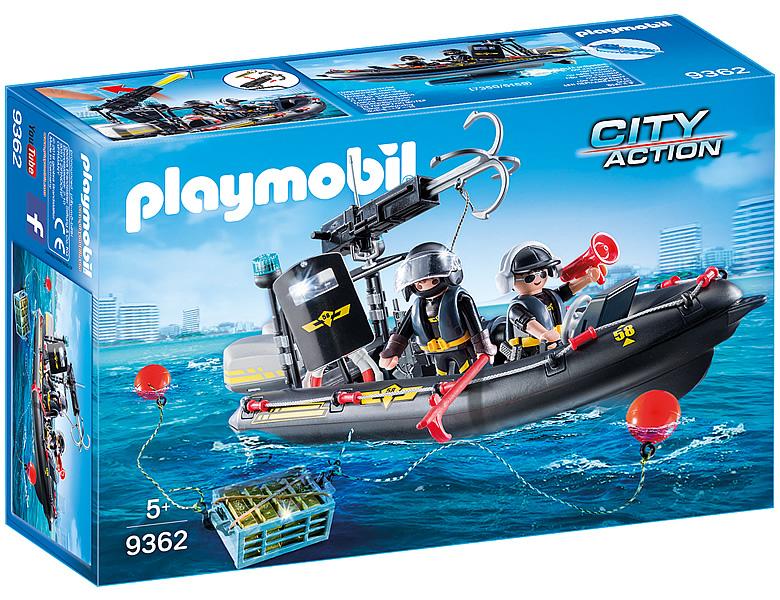 playmobil city action sek schlauchboot 9362. Black Bedroom Furniture Sets. Home Design Ideas