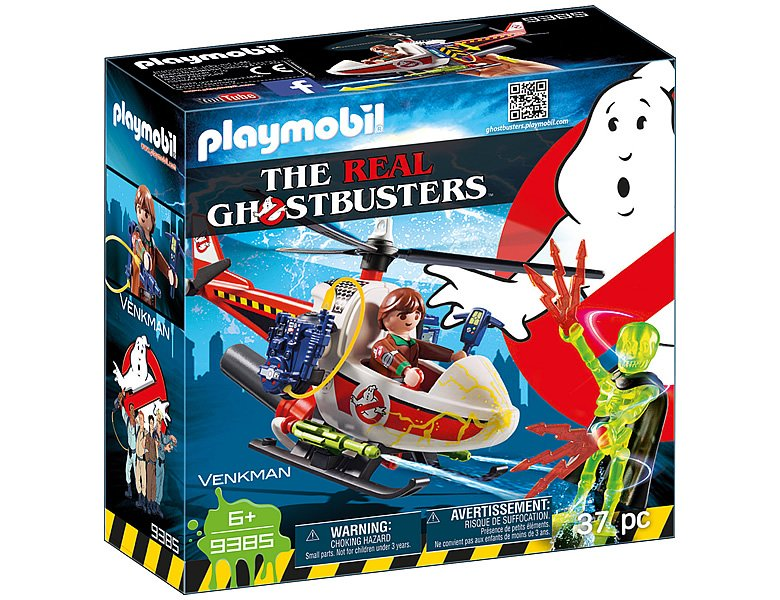 PLAYMOBIL Ghostbusters Venkman mit Helikopter 9385