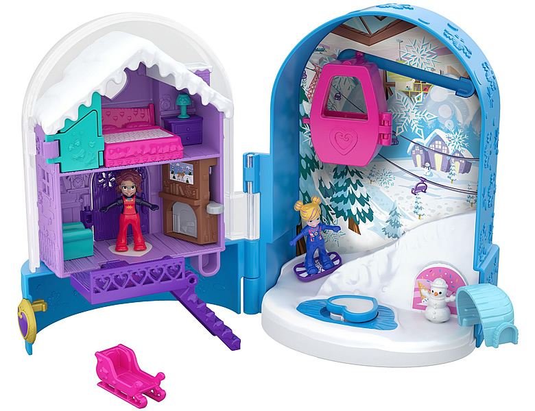 Polly Pocket Pocket World Schneespass Schatulle