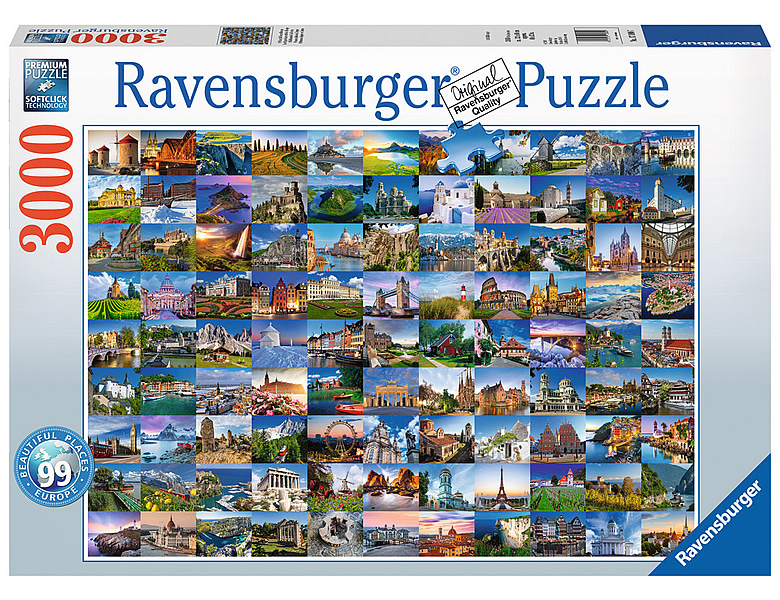 99 Beautiful White And Grey Living Room Interior: Ravensburger Puzzle 99 Beautiful Places In Europe
