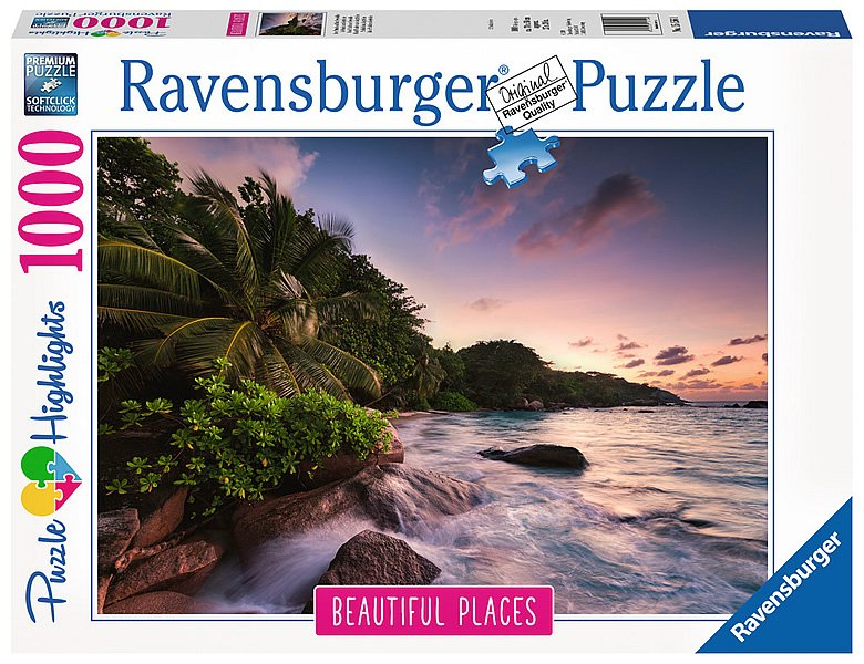 ravensburger puzzle beautiful places insel praslin. Black Bedroom Furniture Sets. Home Design Ideas