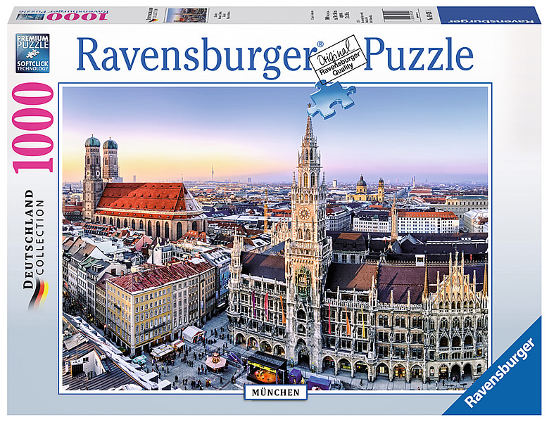 ravensburger puzzle blick auf m nchen 1000teile puzzle 1000 teile. Black Bedroom Furniture Sets. Home Design Ideas