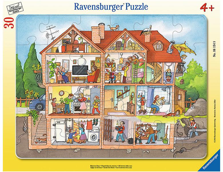 ravensburger rahmenpuzzle blick ins haus 30teile. Black Bedroom Furniture Sets. Home Design Ideas