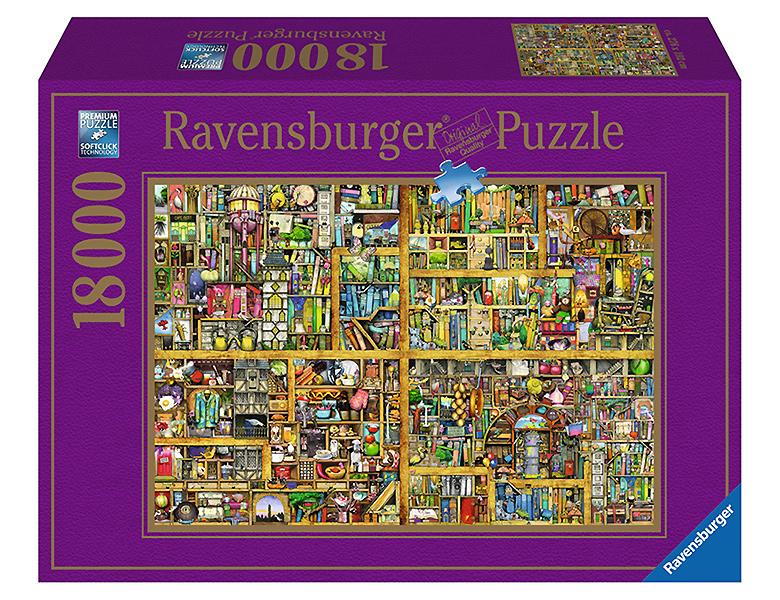 ravensburger puzzle magisches b cherregal 18000teile riesenpuzzle 3000 teile. Black Bedroom Furniture Sets. Home Design Ideas