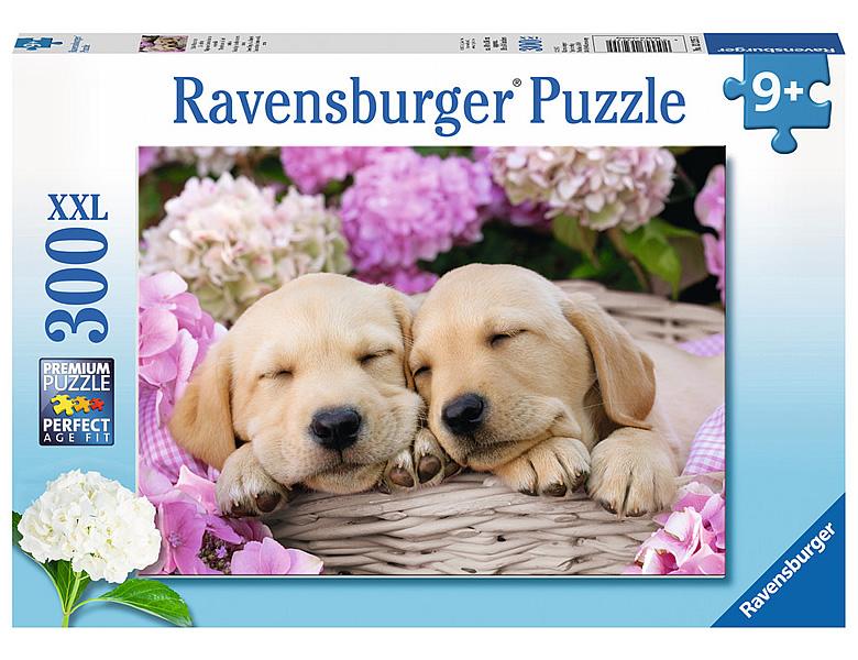 ravensburger puzzle s sse hunde im k rbchen 300xxl puzzles xxl teile. Black Bedroom Furniture Sets. Home Design Ideas