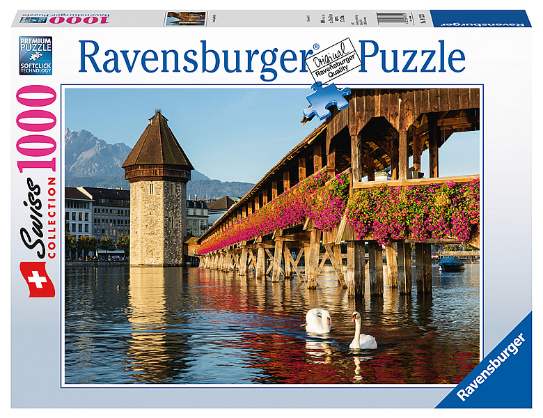 ravensburger puzzle swiss collection luzern kapellbr cke. Black Bedroom Furniture Sets. Home Design Ideas