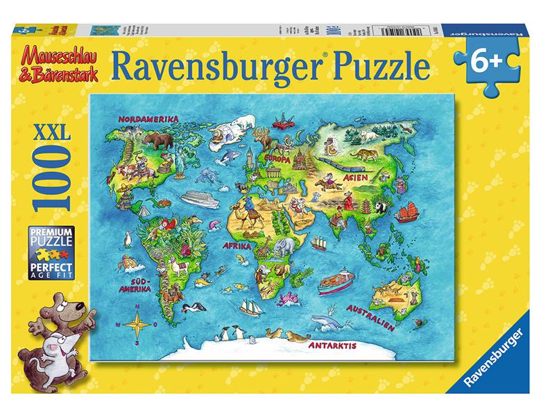 ravensburger puzzle reise um die welt 100xxl puzzles xxl. Black Bedroom Furniture Sets. Home Design Ideas