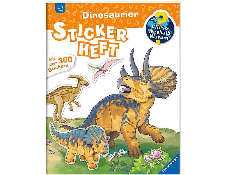 ravensburger wieso weshalb warum stickerheft dinosaurier. Black Bedroom Furniture Sets. Home Design Ideas