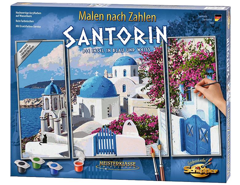 Schipper Landschaftsmotive Malen Nach Zahlen Santorin