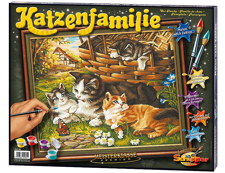 Schipper Tiermotive Malen Nach Zahlen Katzenfamilie