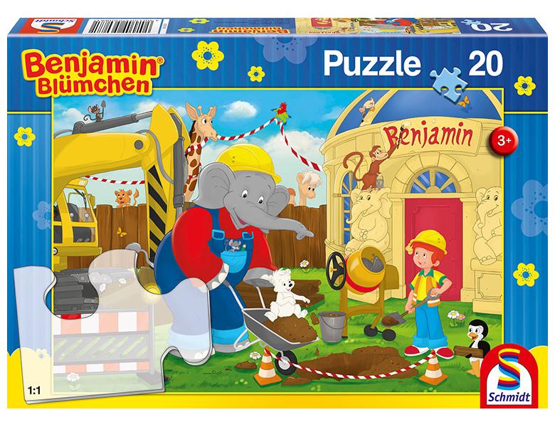 schmidt puzzle auf der baustelle benjamin bl mchen 20teile kleinkind puzzle. Black Bedroom Furniture Sets. Home Design Ideas