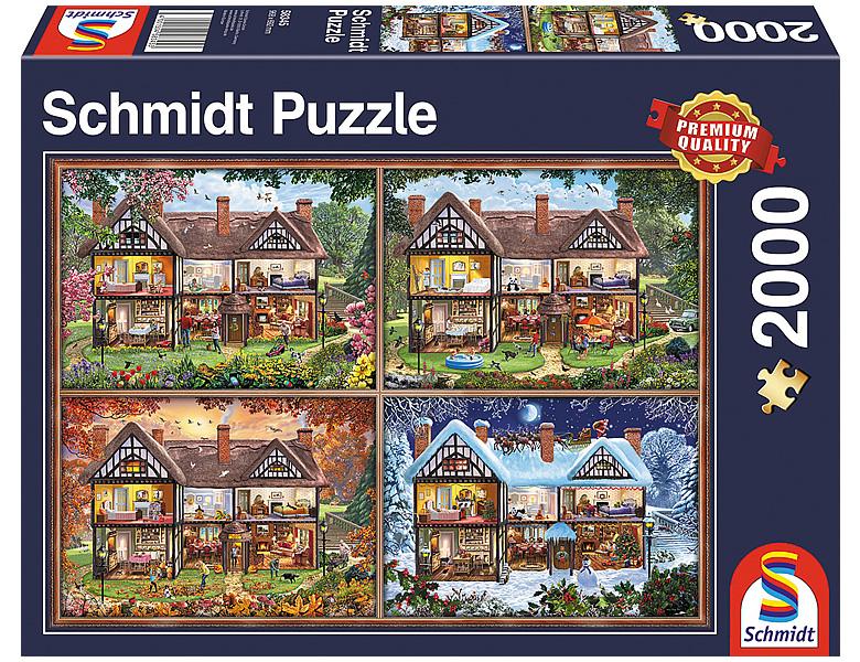 schmidt puzzle jahreszeiten haus 2000teile puzzle 2000 teile. Black Bedroom Furniture Sets. Home Design Ideas