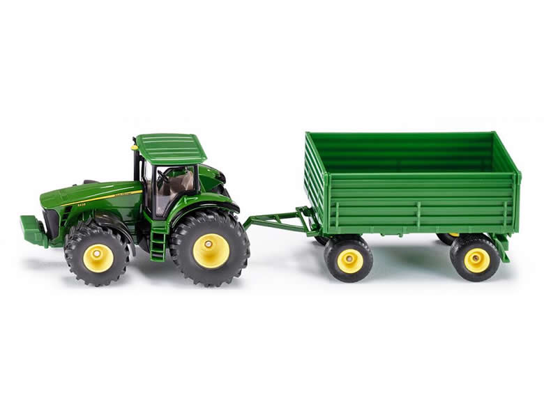 siku farmer 1 50 john deere traktor mit anh nger traktoren. Black Bedroom Furniture Sets. Home Design Ideas