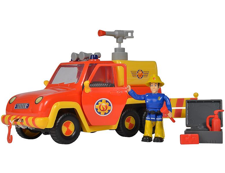 Feuerwehrmann Sam Feuerwehrauto Venus mit Figur Elvis Simba 109257656
