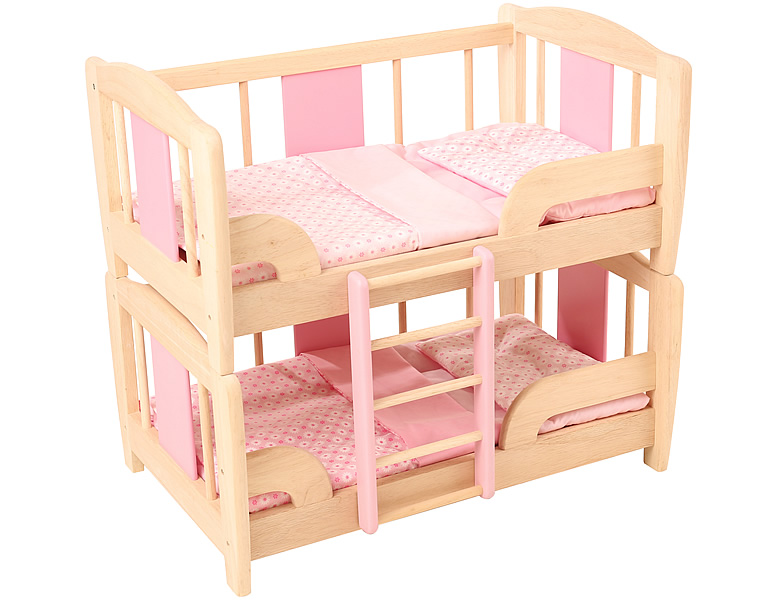 spielba rollenspiele puppen etagenbett mit inhalt puppenzubeh r. Black Bedroom Furniture Sets. Home Design Ideas