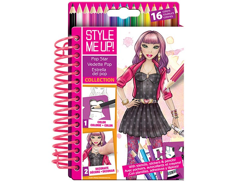 Style Me Up Sketch-to-Go Pop Star | Malsets