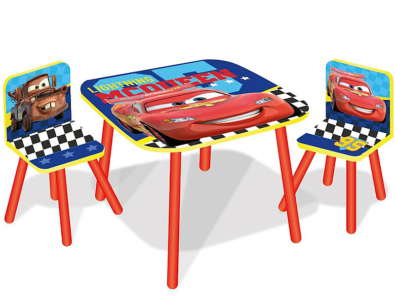 worlds apart disney cars tisch und 2 st hle kinderm bel. Black Bedroom Furniture Sets. Home Design Ideas