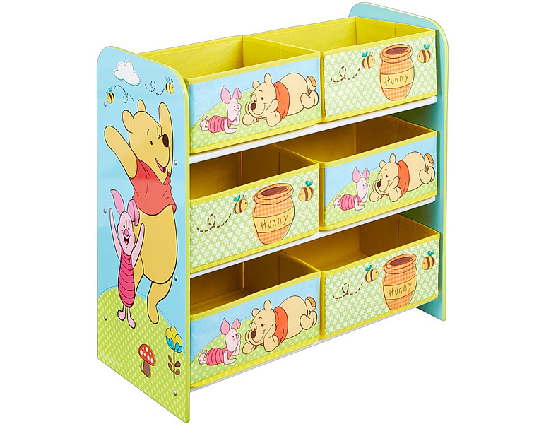 worlds apart winnie pooh multi regal mit sechs stoffboxen kinderm bel. Black Bedroom Furniture Sets. Home Design Ideas