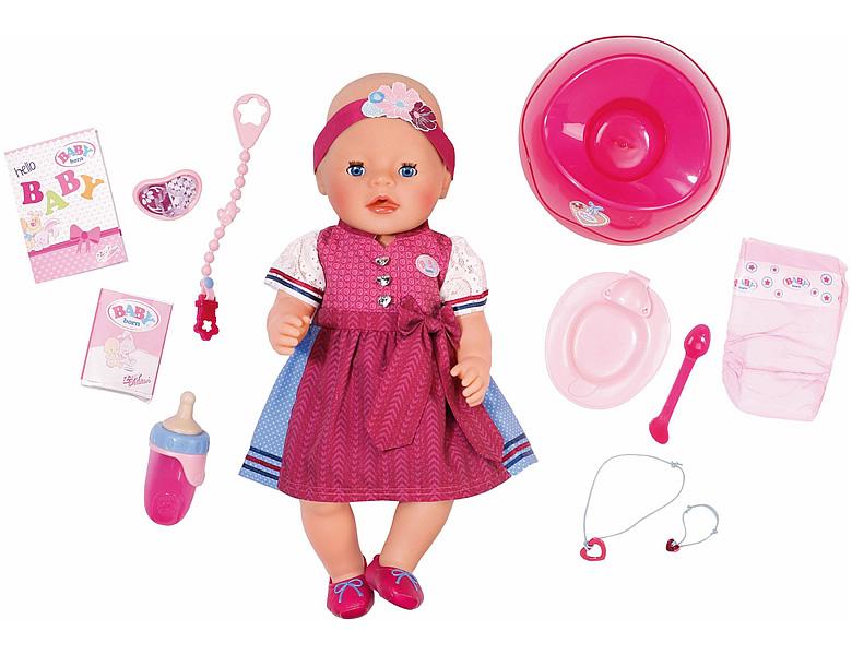 Zapf Creation Baby Born M 228 Dchen Interactive Im Dirndl 43cm