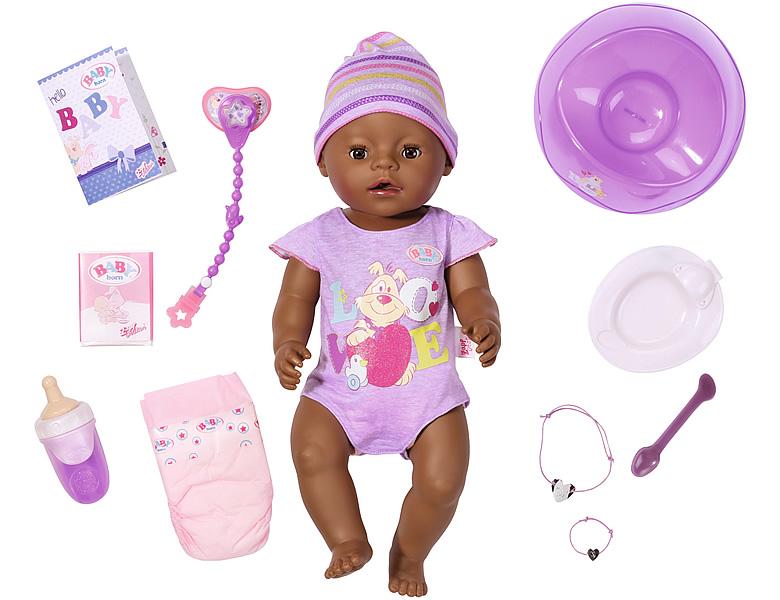 Zapf Creation Baby Born Puppe Ethnik Interaktiv 43cm Babypuppen